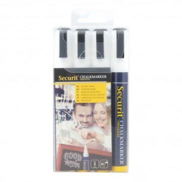 Securit® Kreidestifte 2-6mm in Weiß, 4er Set