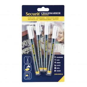 Securit® Kreidestifte 1-2mm in Weiß, 4er Set