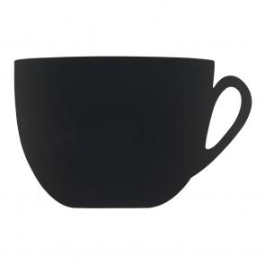 """Securit® Silhouette Kreidetafel """"CUP"""" inkl. 1 Kreidestift und Wand Klettverschlusskleberstreifen"""