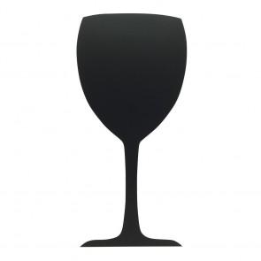 """Securit® Silhouette Kreidetafel """"Glass"""" inkl. 1 Kreidestift und Wand Klettverschlusskleberstreifen"""