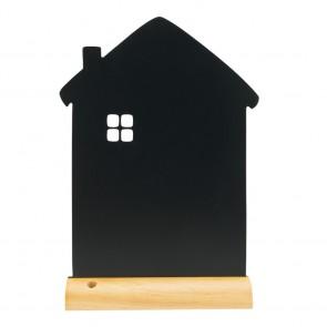 """Securit® Silhouette Tischkreidetafel """"HOUSE"""" , inkl. Holzfuß und 1 Kreidestift"""