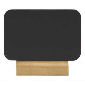 "Securit® MINI Silhouette Tischkreidetafel ""RECT"", inkl. Holzfuß und 1 Kreidestift"