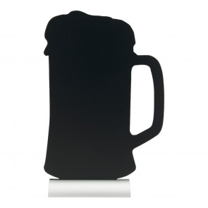 "Securit® Silhouette Tischkreidetafel ""BEER"", inkl. Aluminiumfuß und 1 Kreidestift"