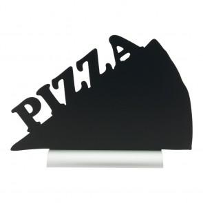 """Securit® Silhouette Tischkreidetafel """"PIZZA"""", inkl. Aluminiumfuß und 1 Kreidestift"""