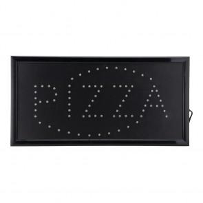 Securit® LED PIZZA Reklame - Rot & Blau aufleuchtend - 220v AC Adapterr + 130cm Kabel