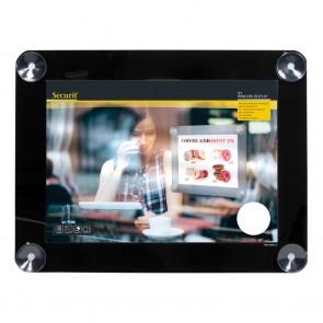 Securit® Fenster-Kreidetafel A3 mit Saugnäpfen A3 UV Resitent - Doppelseitig Schwarz