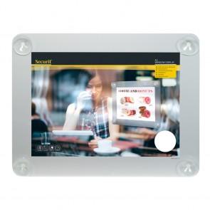 Securit® Fenster-Kreidetafel A3 mit Saugnäpfen A3 UV Resitent - Doppelseitig Grau