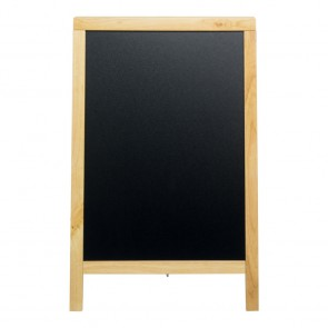 Securit® Gehwegtafel - mit lackiertem Kautschukholzrahmen