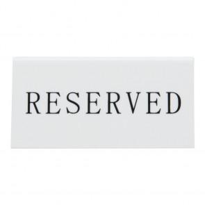 Securit® Reserviert Tischaufsteller, ENGLISCH (5er Set) Weißes Acryl mit Schwarzer Schrift