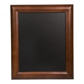Securit® Universal Hartholz Kreidetafel - in lackiertem Dunkelbraun - inkl. Wandaufhängung 30