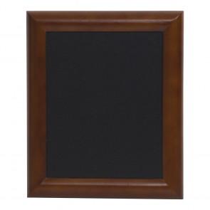 Securit® Universal Hartholz Kreidetafel - in lackiertem Dunkelbraun - inkl. Wandaufhängung 40