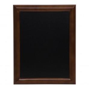 Securit® Universal Hartholz Kreidetafel - in lackiertem Dunkelbraun - inkl. Wandaufhängung 50