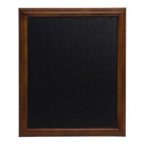 Securit® Universal Hartholz Kreidetafel - in lackiertem Dunkelbraun - inkl. Wandaufhängung 60