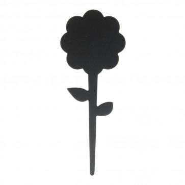 Securit® Silhouette Fleur ardoise tags - 6 lots de 5 + feutre - craie